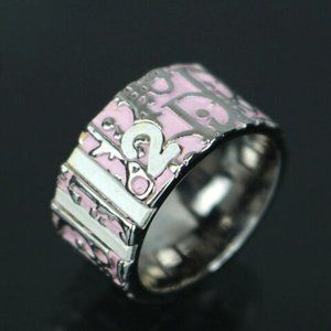 Christian Dior Trotter Ring Pink US Size 7.5 #5178
